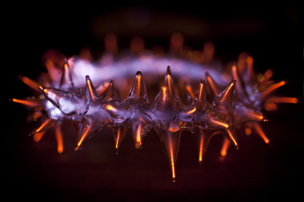 Polish plasma neon art Crown of thorns