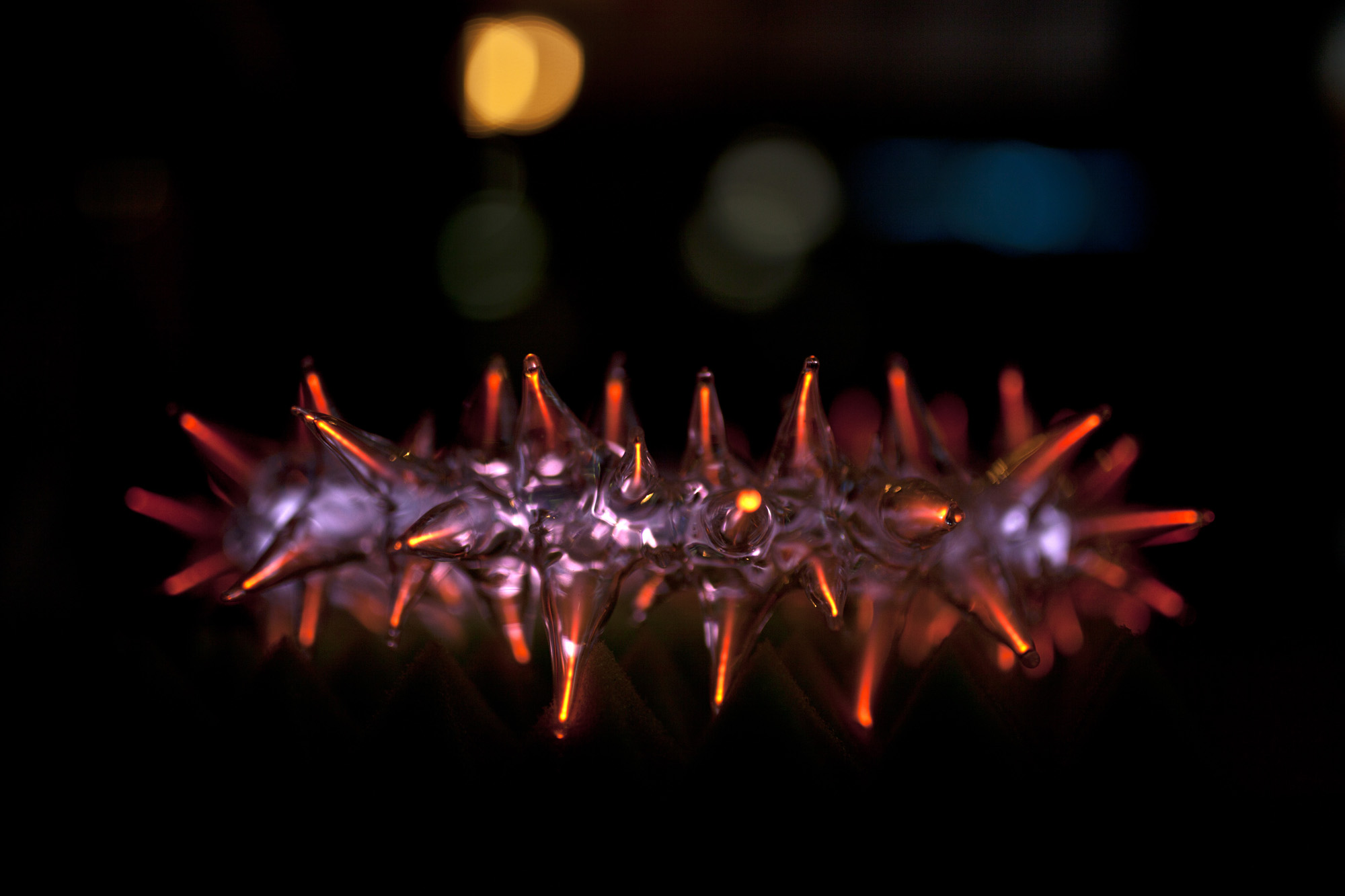 Plasma art glass sculpture