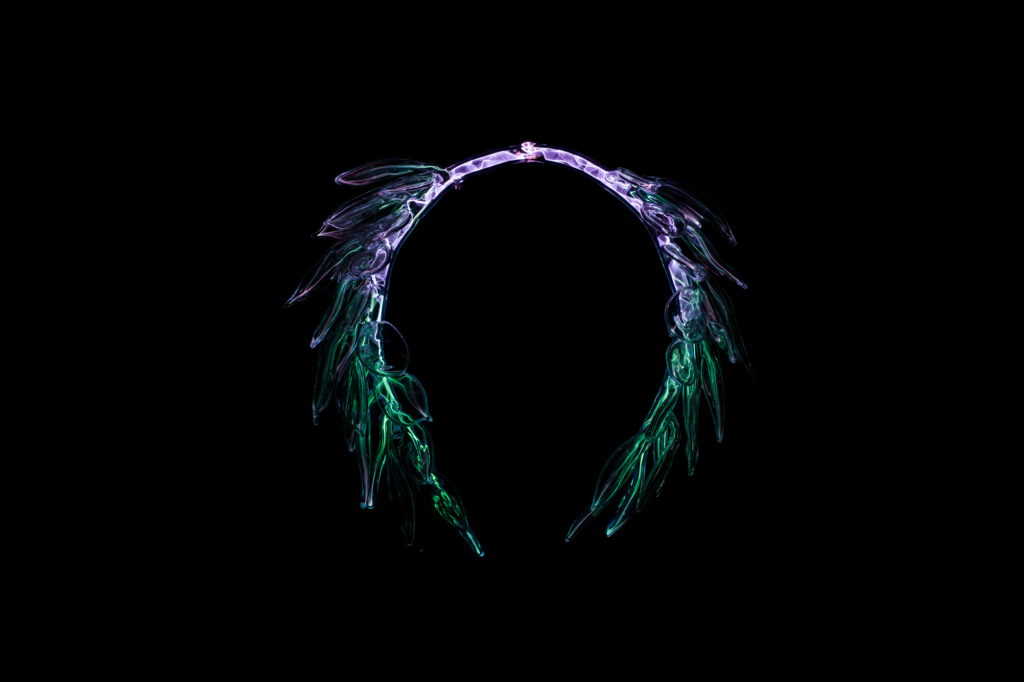 Glass Laurel wreath plasma art
