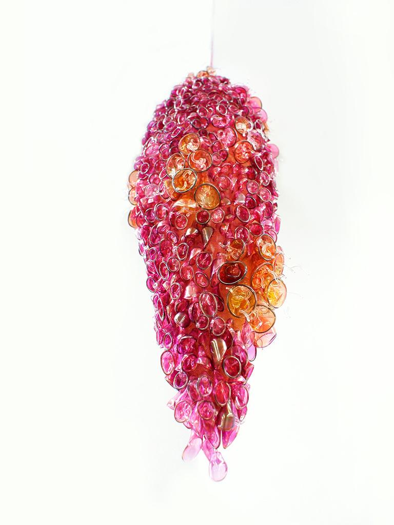 Multielement flameworked glass sculpture